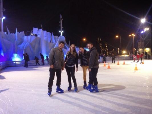 Pista de patinação em Atenas