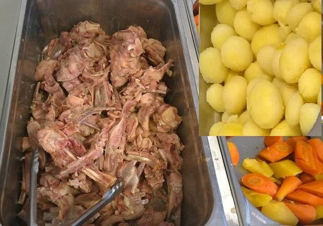 """Menu do dia até nas cantinas de repartições públicas: """"Saltkjöt"""", carne de carneiro salgada e cozida, acompanhada de legumes e batatas cozidas na mesma água."""