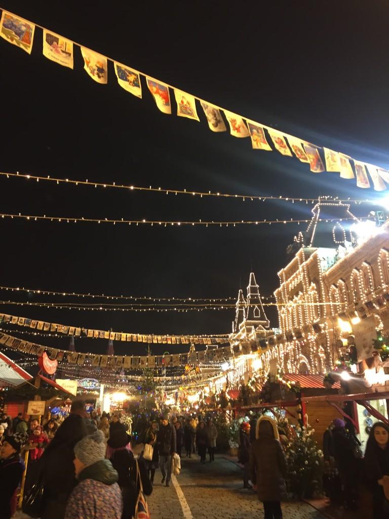 Feira de Natal na Praça Vermelha