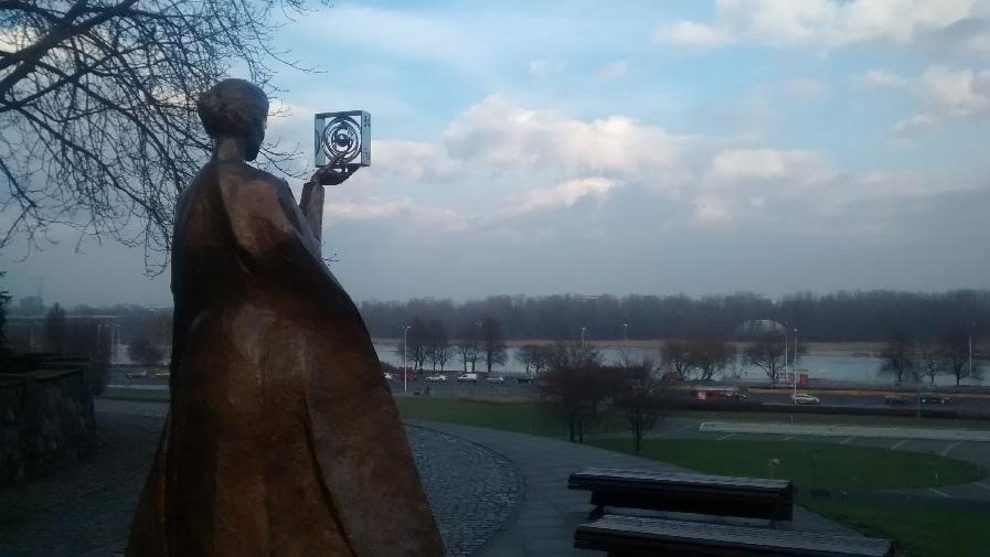 Estátua de Marie Curie.