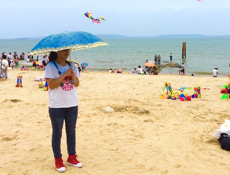 Sombrinha na praia china