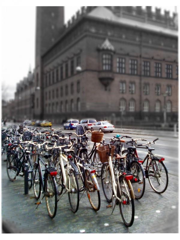 """Nada de """"carrões"""": na Dinamarca, as bicicletas imperam. Fonte: Pixabay"""