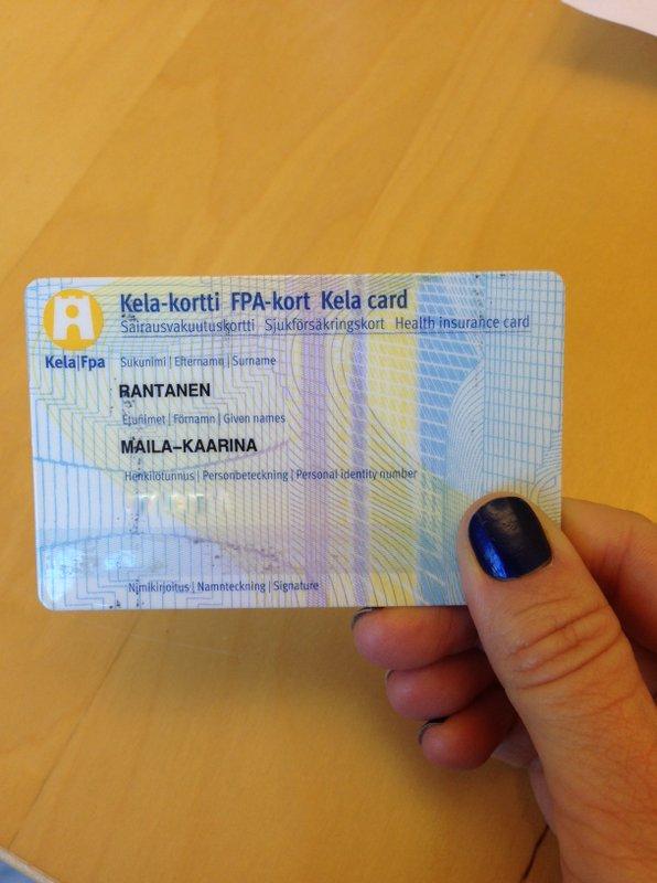 Cartão de seguro social - arquivo pessoal