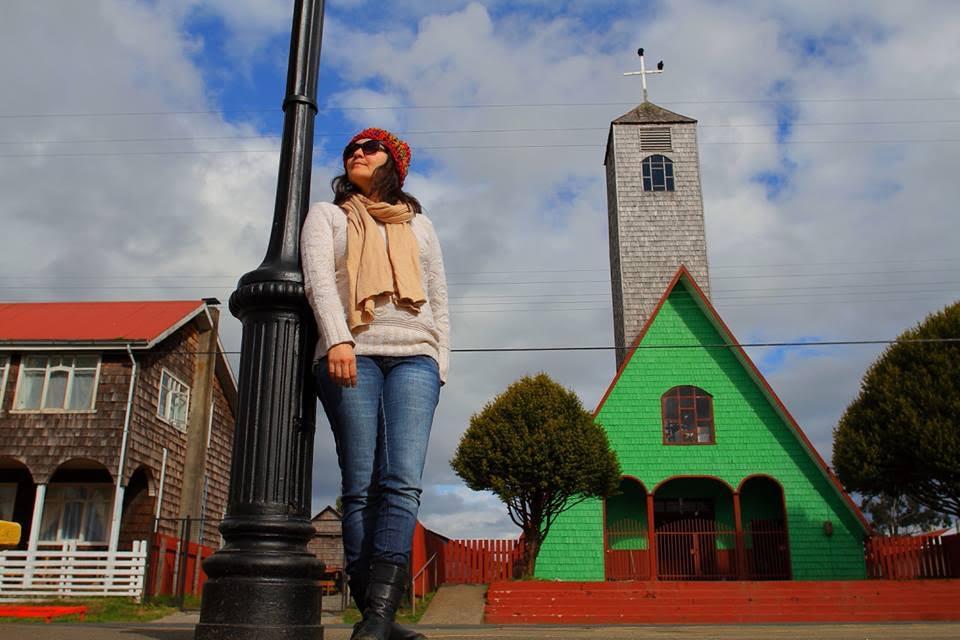 Igreja com arquitetura chilote.