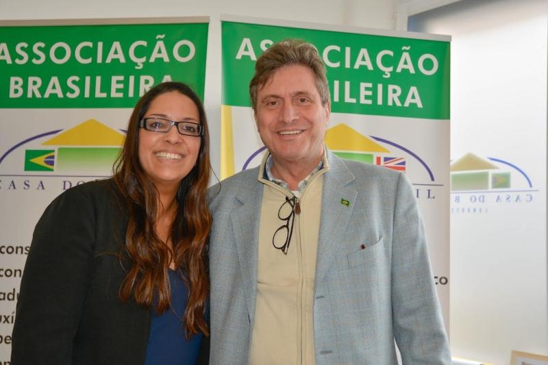 Ann BPM e Carlos Mellinger, presidente da Casa do Brasil em Londres