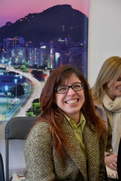 Elília Reis, chefe do setor pedagogia da escola de português Artes Brasil