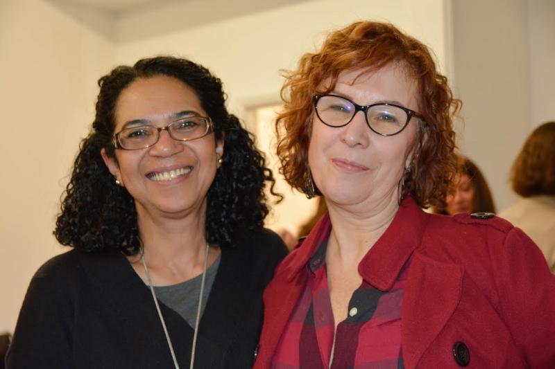 Iricê e Fátima (interpreter e voluntária na Casa do Brasil em Londres