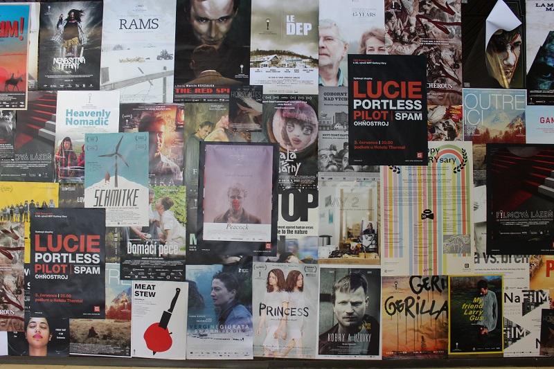Alguns cartazes dos filmes apresentados durante o festival no ano de 2015. Foto: acervo pessoal.