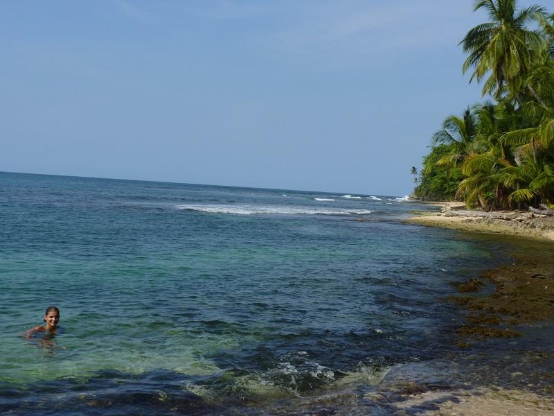 Praia Manzanillo no lado do Atlântico