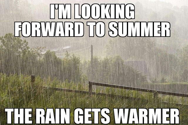"""""""Estou esperando pelo verão. A chuva fica mais quente."""" (fonte: Imgur)"""