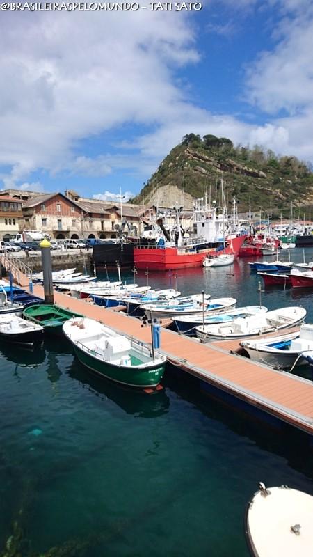 O porto de Getaria, cenário de Ocho Apellidos Vascos