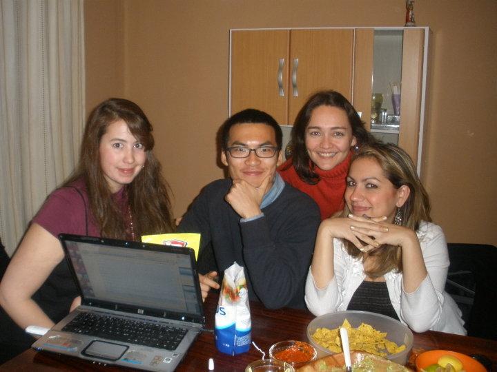 Noite mexicana com colegas