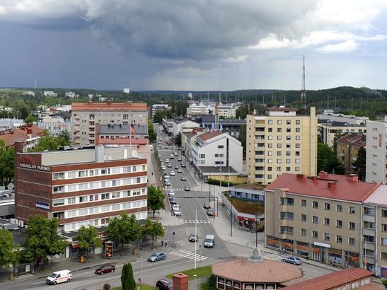 O pequeno centro de Kouvola. Foto: revista kauppalehti.fi