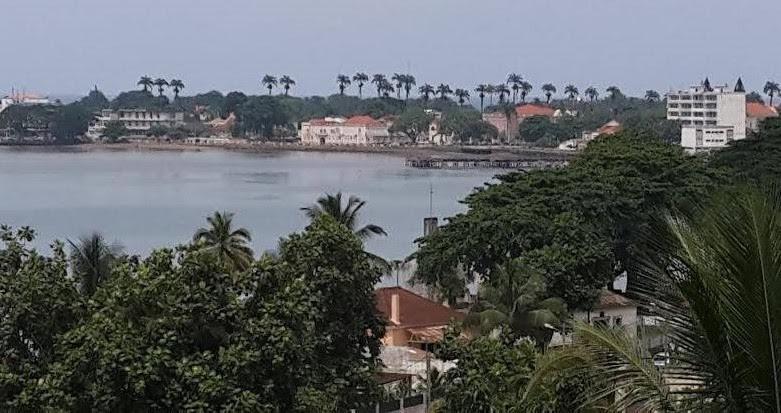 Vista da cidade de São Tomé