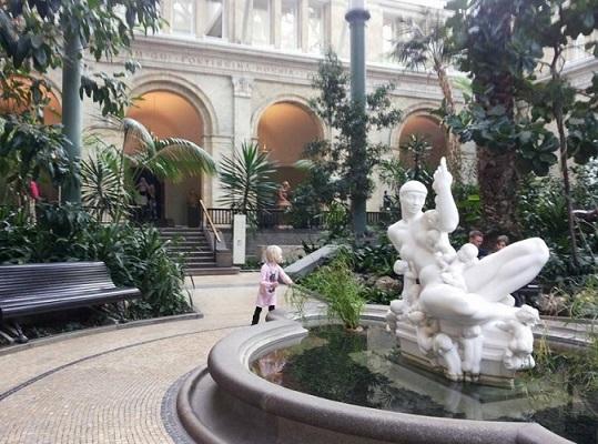 O famoso museu Carlsberg Glyptotek é um ótimo passeio para quem aprecia arte e história. Fonte: Arquivo Pessoal da Autora