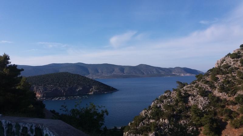 Vista da estrada entre Micenas e Corinto