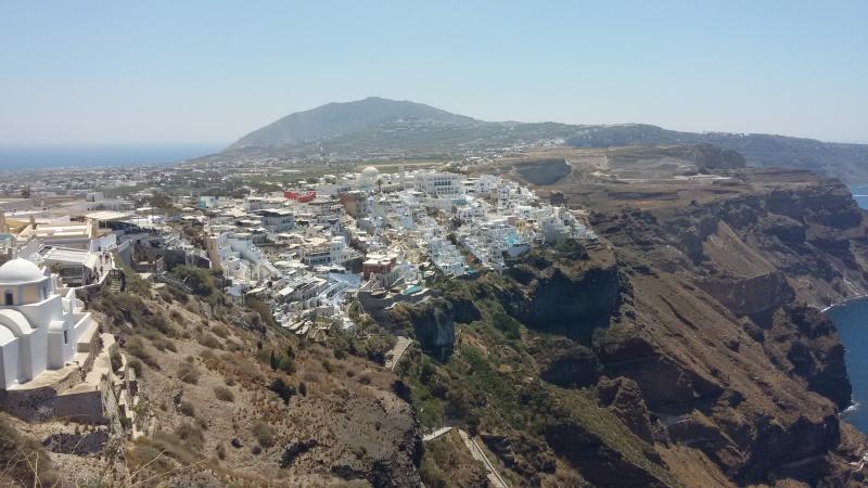 Santorini: Foto da cidade de Fira. Foto arquivo pessoal