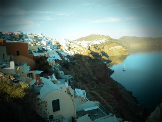 Cartão postal grego, Santorini