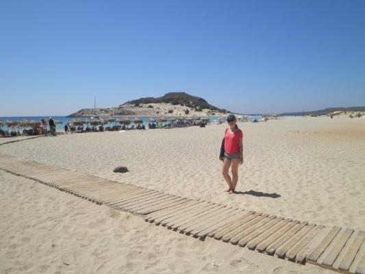 A mais famosa praia de Elafonisos, Simos