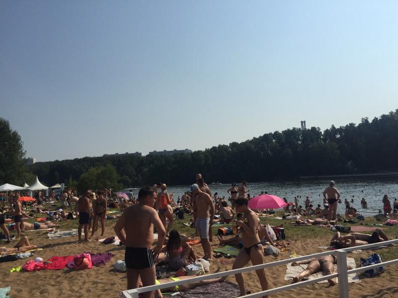 Praia na beira do rio Moscou