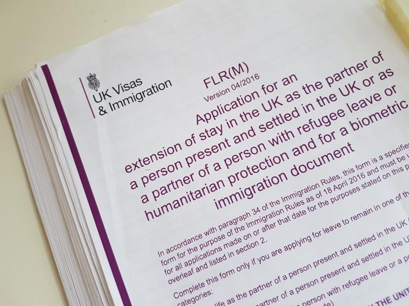 Formulário de aplicação de visto