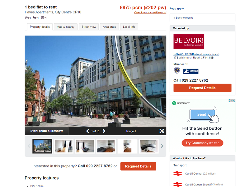Hayes apartment (Cardiff city centre)