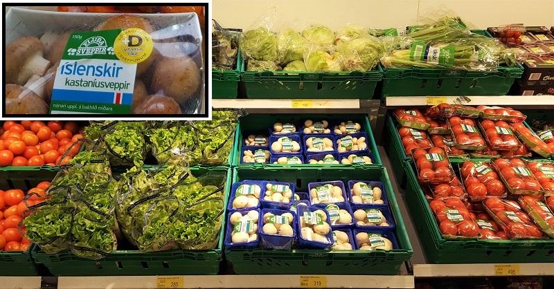 Legumes e verduras com o selo islandês: garantia de qualidade