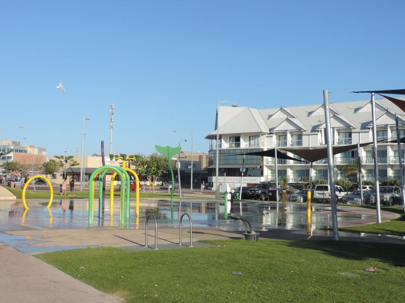 Parque aquático na cidade