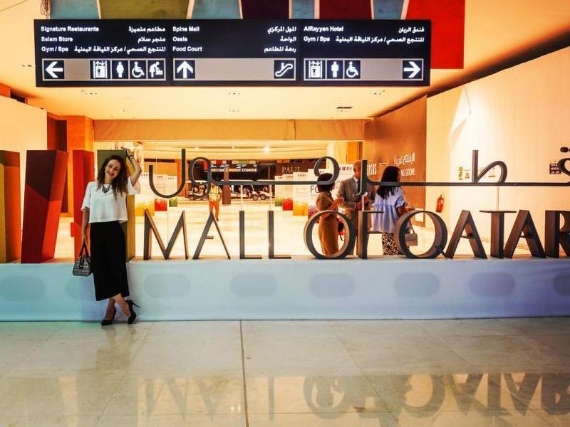 Dentro do maior shopping do Qatar que em breve terá espetáculos circenses e na trupe temos 7 brasileiros! bacana né? Foto acervo pessoal