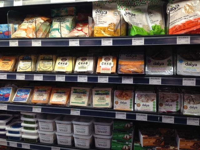 Queijos veganos no mercado