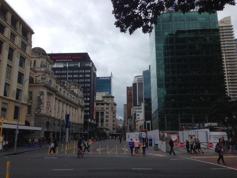Queen Street em Auckland Nova Zelândia