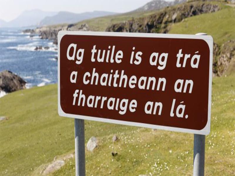 O idioma oficial da Ir...