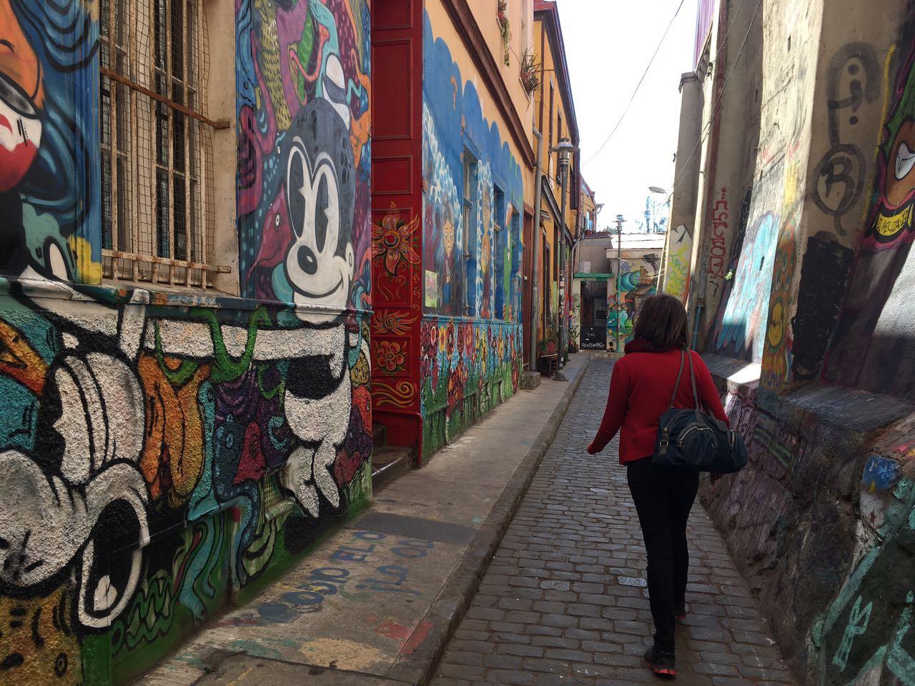 Pelas ruas coloridas de Valparaiso. Foto: arquivo pessoal