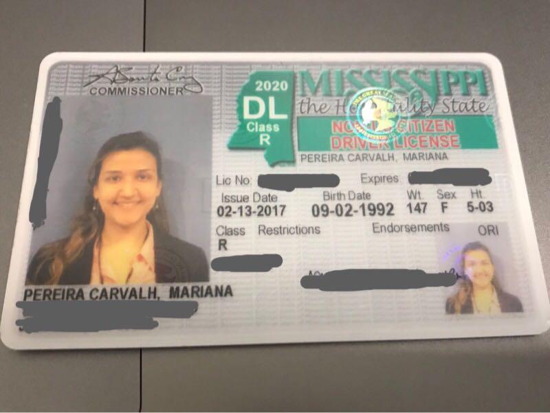 Carteira de Motorista Mississippi