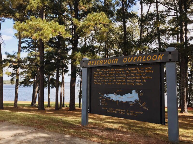 pontos turísticos, mississippi, natchez trace parkway, reservoir overlook