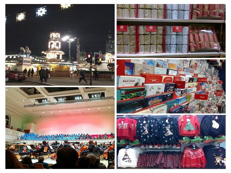 Christmas Market de Glasgow, Coral de crianças e jovens, Christmas Crackers, Cartões, Blusas para o Natal