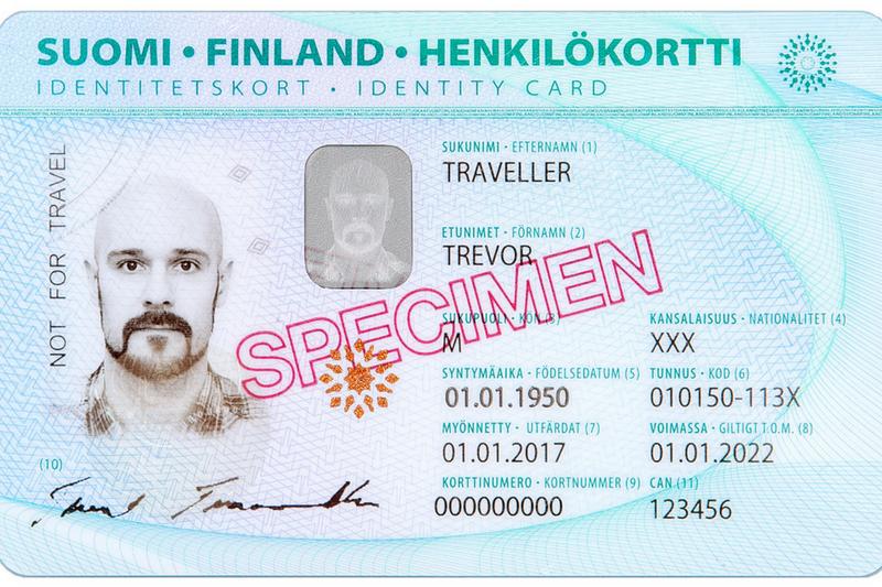 carteira de identidade finlandesa, Finlândia, documentos finlandeses, RG finlandês,