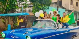 Foto Chevrolet conversível, 1957. Bauta, Cuba. Copa 2018