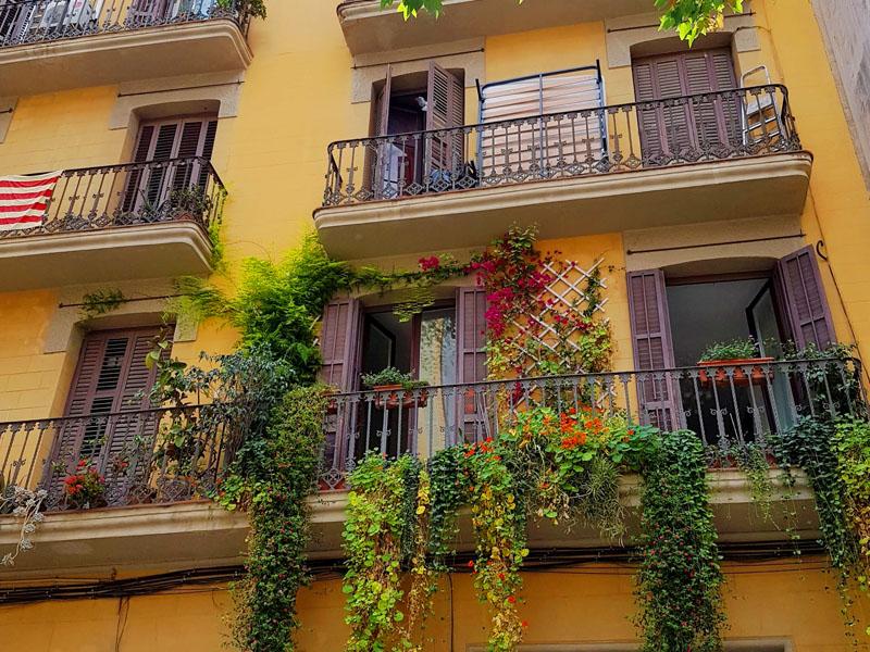 Fachada de apartamento em Barcelona