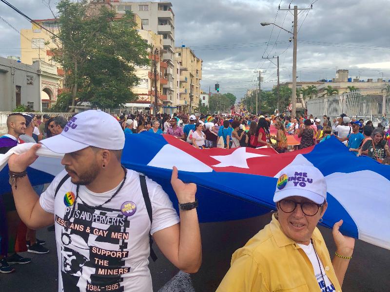 Décima primeira parada gay de Cuba na cidade de Havana.