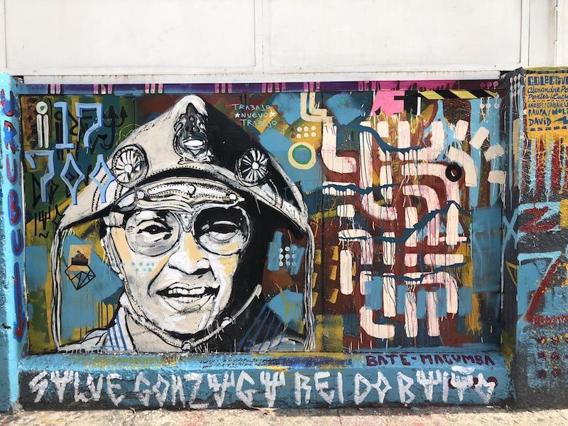 Luiz Gonzaga em Cuba - arte no muro da Fábrica de Arte Cubana