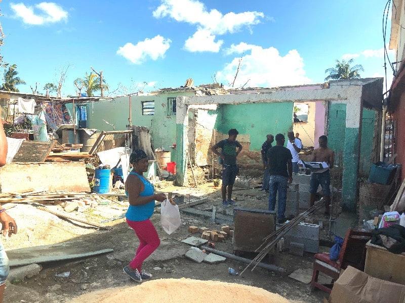 Foto em bairro de Regla, Havana, que foi arrasado pelo tornado. Arquivo pessoal 03 fevereiro 2019