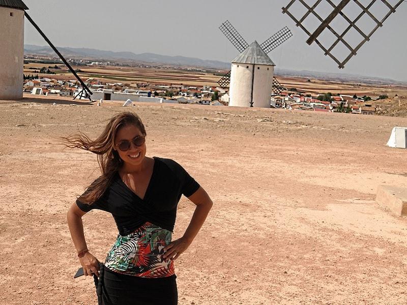 Moinhos de vento de Dom Quixote.
