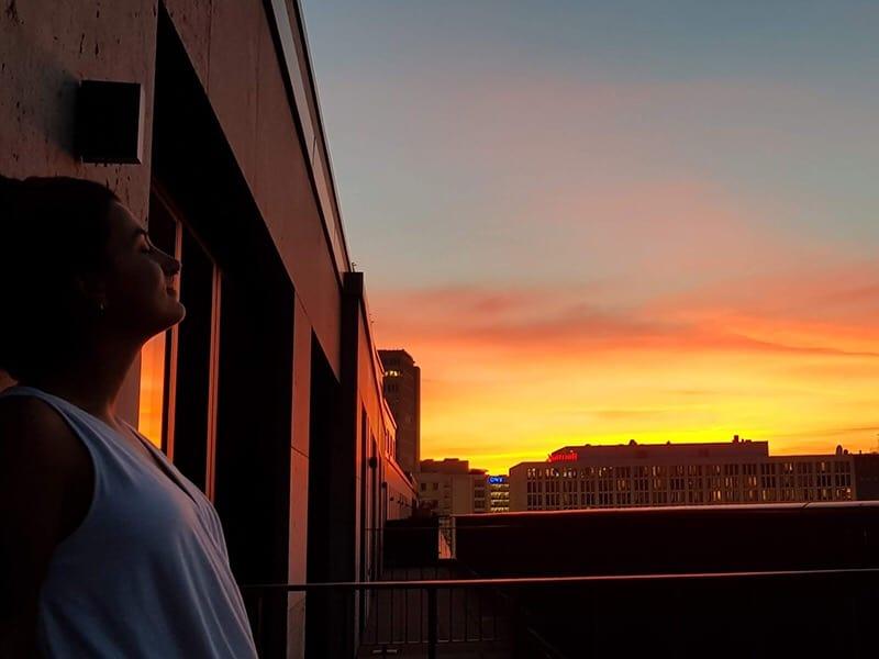 Entardecer em Berlim. Foto: Acervo pessoal.