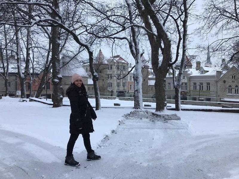 inverno estonia neve