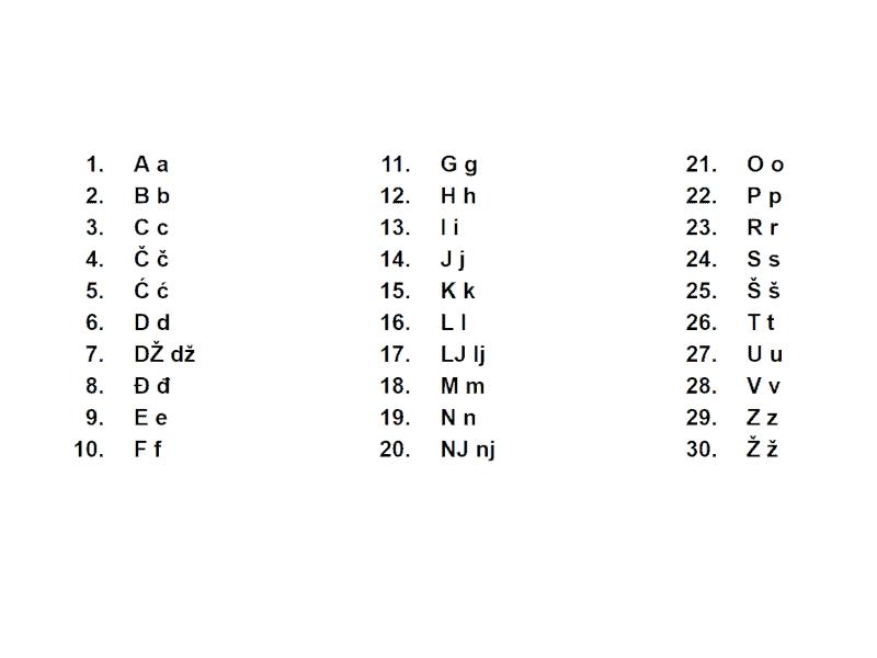 Alfabeto croata